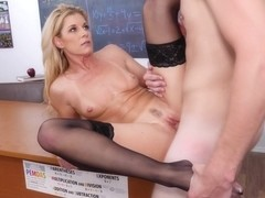 India Summer in Blonde Teacher Fucks her Student