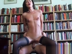 Mofos World Wide - Nataly Gold - Face Fucking In The Library