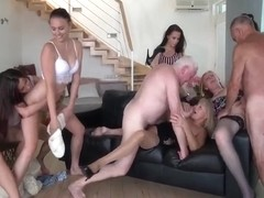 Nicole Love, Keira Flow And Jana Nelle - Perverted Oldies Orgy, Part 2