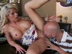 Milf Brooke Haven pleasures handsome Johnny Sins