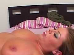 Tattooed Emily plays with his boner