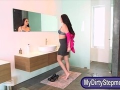 Stepmom Bianca Breeze hot threesome sex in shower room