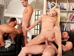 Giselle Leon, Cece Stone, Tegan Summers, Alec Knight, Anthony Rosano in Neighborhood Swingers #04,.