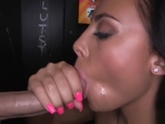 Amateur gloryhole dicksucker starts with bbc