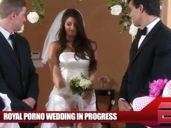 Pornstar Madelyn Marie sucks dick at her wedding