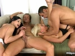 Tony, Abbie Cat, George Uhl, Candy Love in Europe orgy Video