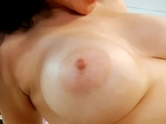 Shaved Mommy Tacori Blu Gives Handjob Well Her Friend