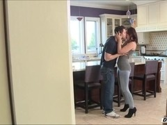Jodi meets up with her boyfriend at the kitchen and gets fucked