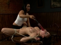 Horny anal, lesbian adult movie with incredible pornstars Chanel Preston and Isis Love from Whippedass