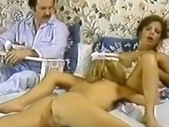 Karen Summer, Nina Hartley in porn classic clip with a horny maid