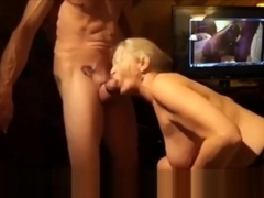 Cock Craving Granny Sucking Cock