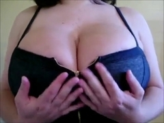 Playing with my enormous boobs
