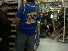 20 Year old Slut gets Used in a Hardware Store