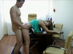 Blonde Fucked on a Desk at the Office