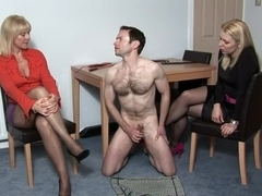 CFNM - Jerking Off for Two Women