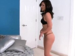 Latin brunette beauty Issa Rose got her nasty asshole cleaned up with tongue by tight dicked dude .