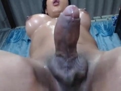 Tgirl cant keep her hands to herself