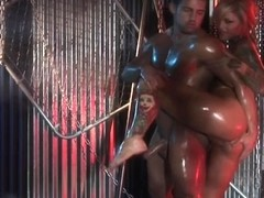 Janine. Oiled Up With A Dude