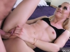 Spinner Blondie Morgan Rain Spread Her Wet Tight Pussy For Big Cock