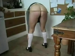 English schoolgirl discipline caned and analised