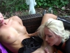 Jana Cova and Molly Cavalli are blonde lesbians