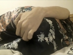 Satin robe clothed masturbate and ass play ass pov