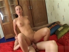 Sweetie rides up penis