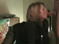 French MILF deepthroat blowjob and anal