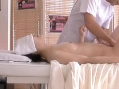 Sexy blowjob and cunt drilling in hot asian massage movie