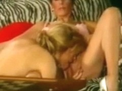 Classic mother daughter's friend threesome with younger guy