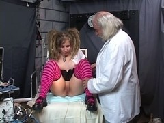 Playgirl with wild pigtails receives amoral sex therapy