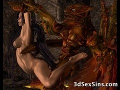 3D Creatures From Hell Fuck Gals!