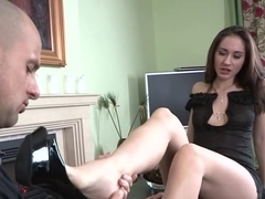 Kinky Whore Gives Footjob