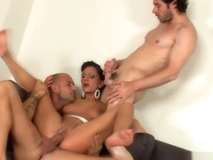 Jizz faced european anal