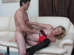Naughty Amateur Milf Sucking And Fucking With Cumshot