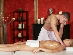 Massage Rooms Juicy ass blonde has orgasmic sex from big cock stud