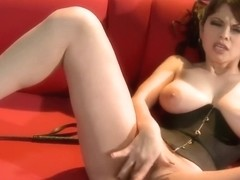 Gorgeous mistress, Evie Delatosso looks hot and likes to masturbate