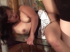 Asian Housewife Fucked On The Table