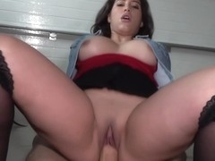 Attractive Busty Girl Fucked In Garage