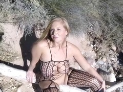 Big Booty Busty Housewife Outdoor Fucking