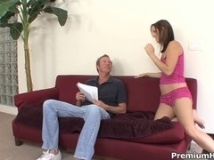 Wicked Brooke Logan riding her teacher