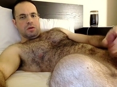 Winsome fag is jerking at home and filming himself on webcam
