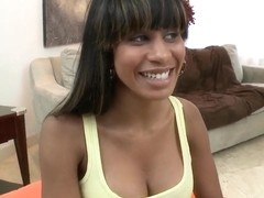 Nicely tanned Latina has something to show us