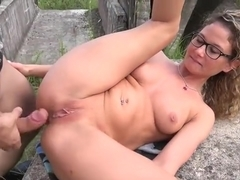 Couple countryside sex play