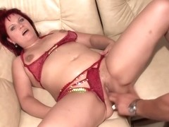 Red Haired Woman Is Eagerly Sucking A Fat Dick And Getting It Deep Inside Her Shaved Pussy
