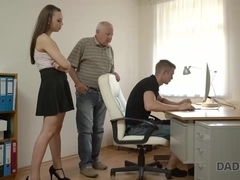 DADDY4K. Teen petite Ornella tastes dick of her boyfriends father
