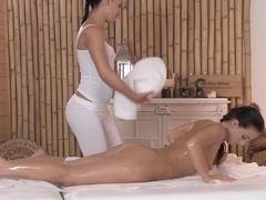 Amazing pornstars Anna Rose, Natalie in Hottest Massage, Fingering porn scene