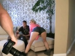Blonde Alexis gives a mind-blowing footjob