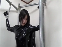 Japanes latex catsuit 10