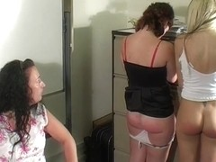 Older Woman Spanks Two Teenagers!